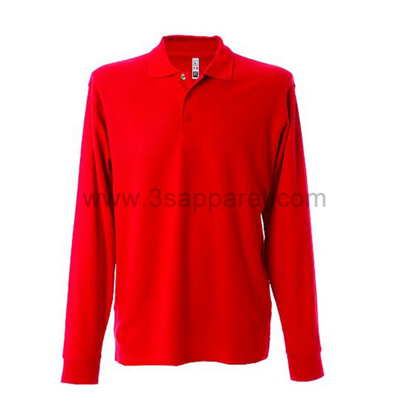 Man Knit Long Sleeve Polo