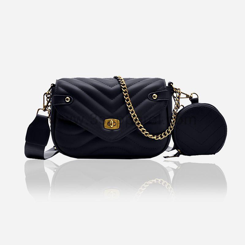 3 in 1 Corrugated Design Shoulder Messenger Women Crossbody bag